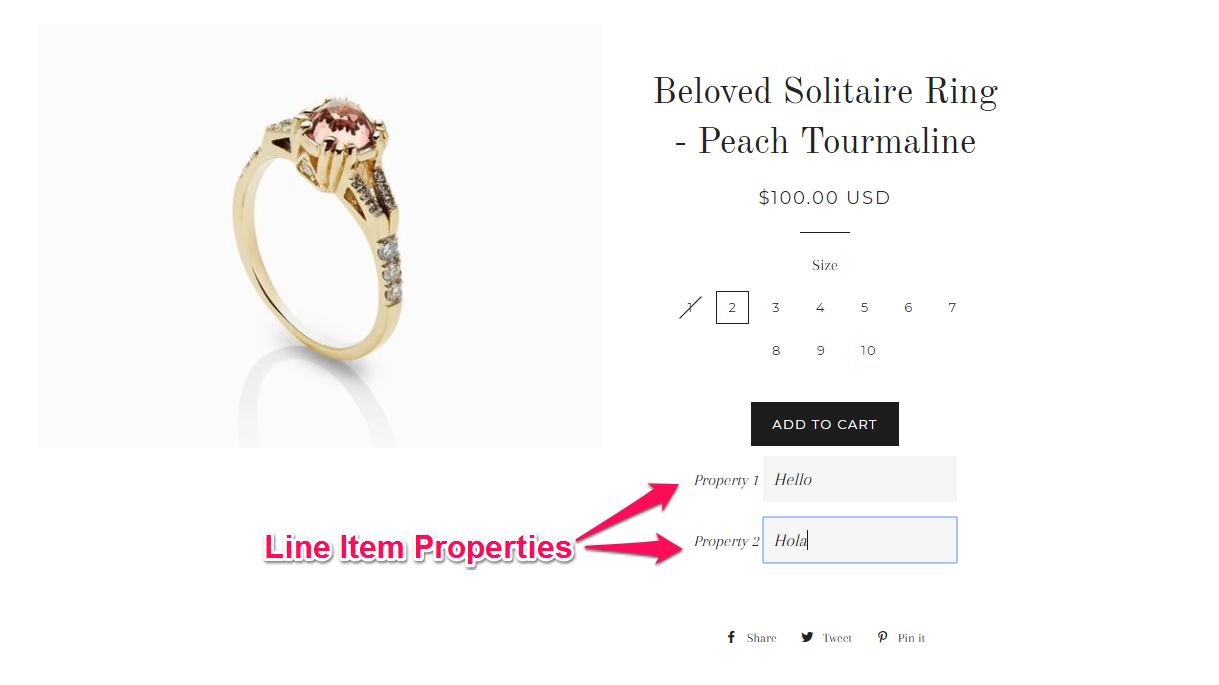 How to hide Line Item Properties at the checkout in Shopify